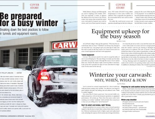 Winterize Your Car Wash