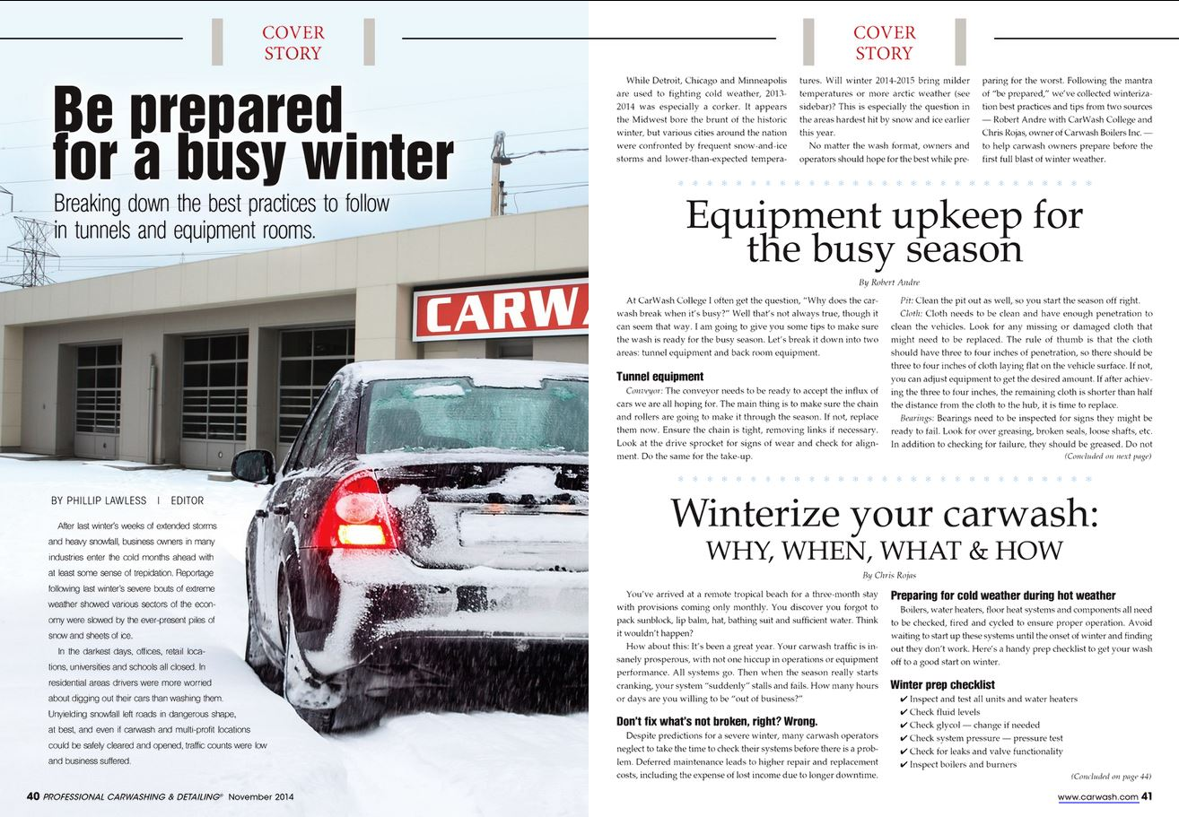 Winterize Your Car Wash - Carwash Boilers